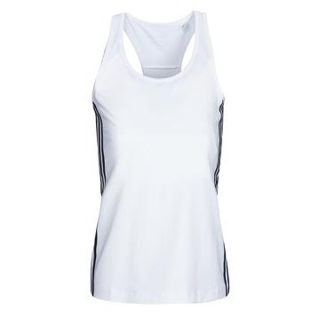 Kleidung Damen Tops adidas Performance W D2M 3S TANK Weiss