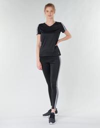 Kleidung Damen Leggings adidas Performance W D2M 3S HR LT Schwarz