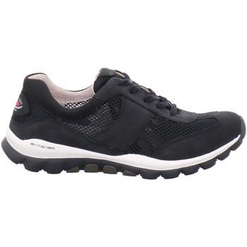 Schuhe Damen Sneaker Low Rollingsoft By Gabor Schnuerschuhe 06966-46 blau