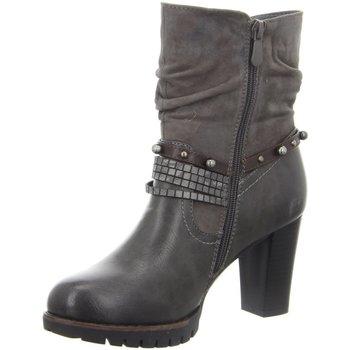 Schuhe Damen Stiefel Laufsteg München Stiefeletten HW190701 FUMO grau