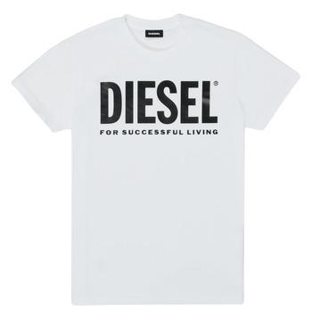 Kleidung Kinder T-Shirts Diesel TJUSTLOGO Weiss