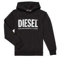 Kleidung Jungen Sweatshirts Diesel SDIVISION LOGO Schwarz