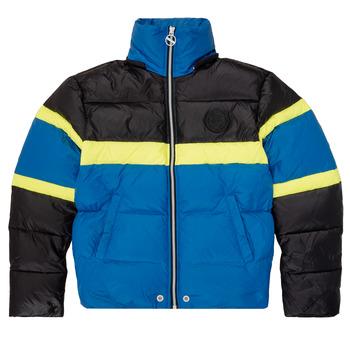 Kleidung Jungen Daunenjacken Diesel JMARTOS Schwarz / Blau / Gelb