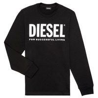 Kleidung Jungen Langarmshirts Diesel TJUSTLOGO ML Schwarz
