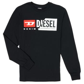 Kleidung Kinder Langarmshirts Diesel TDIEGOCUTY Schwarz