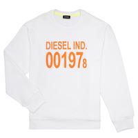 Kleidung Kinder Sweatshirts Diesel SGIRKJ3 Weiss