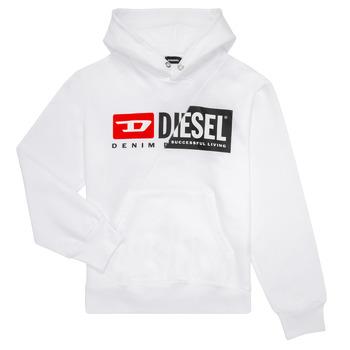 Kleidung Kinder Sweatshirts Diesel SGIRKHOODCUTY Weiss