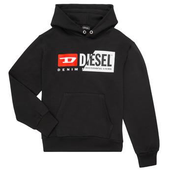 Kleidung Kinder Sweatshirts Diesel SGIRKHOODCUTY Schwarz