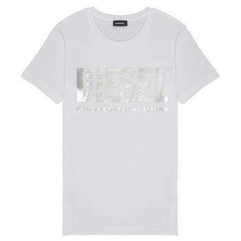 Kleidung Mädchen T-Shirts Diesel TSILYWX Weiss