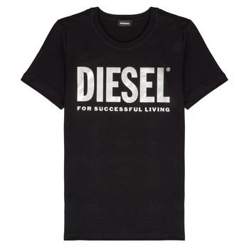 Kleidung Mädchen T-Shirts Diesel TSILYWX Schwarz