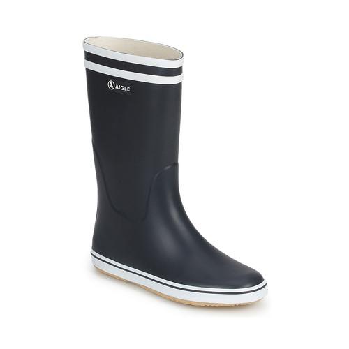 Schuhe Damen Gummistiefel Aigle MALOUINE Marine / Weiss