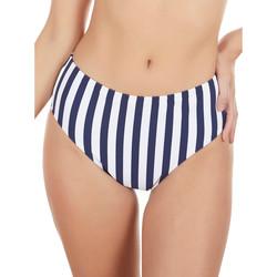 Kleidung Damen Bikini Ober- und Unterteile Selmark Badeanzug-Strümpfe mit hoher Taille Rayas Marineras blau Blau