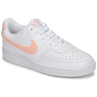 Schuhe Damen Sneaker Low Nike COURT VISION LOW Weiss / Rose