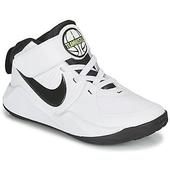 Schuhe Jungen Basketballschuhe Nike TEAM HUSTLE D 9 PS Weiss / Schwarz