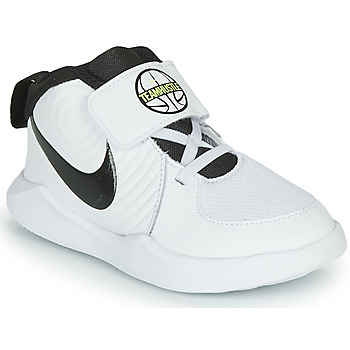 Schuhe Jungen Basketballschuhe Nike TEAM HUSTLE D 9 TD Weiss / Schwarz