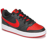 Schuhe Kinder Sneaker Low Nike COURT BOROUGH LOW 2 GS Schwarz / Rot