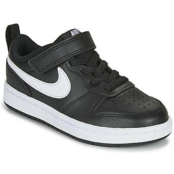 Schuhe Kinder Sneaker Low Nike COURT BOROUGH LOW 2 PS Schwarz / Weiss