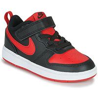Schuhe Kinder Sneaker Low Nike COURT BOROUGH LOW 2 TD Schwarz / Rot