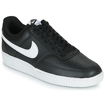 Schuhe Herren Sneaker Low Nike COURT VISION LOW Schwarz / Weiss