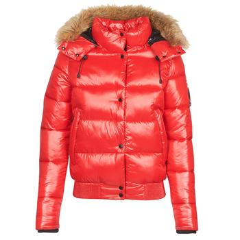 Kleidung Damen Daunenjacken Superdry HIGH SHINE TOYA BOMBER Rot