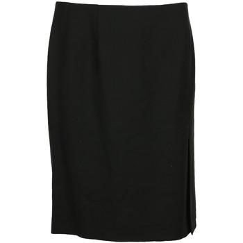 Kleidung Damen Röcke Paul Smith Jupe courte droite laine Schwarz