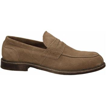Schuhe Herren Slipper Café Noir MOCASSINO CON PASSANTE IN SCAMOSCIATO 273-taupe