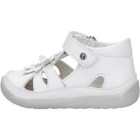 Schuhe Jungen Sandalen / Sandaletten Falcotto - Gabbietta bianco ORINDA-1N02 BIANCO