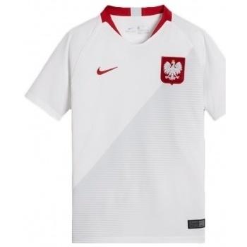 Kleidung Kinder T-Shirts Nike Polska WC 2018 H Breathe Stadium Junior mehrfärbig