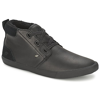 Schuhe Herren Sneaker High Boxfresh SKELT FUR LEATHER Schwarz
