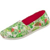 Schuhe Damen Slipper Toms Slipper 10015068 watermelon palme Spanish Villa 10015068 grün