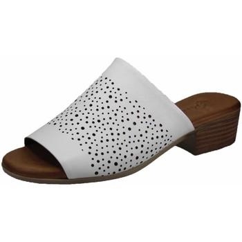 Schuhe Damen Pantoffel Piazza Pantoletten 900621-3 weiß
