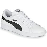Schuhe Herren Sneaker Low Puma SMASH Weiss / Schwarz