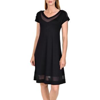 Kleidung Damen Kurze Kleider Lisca Strandkleid Porto Montenegro Perlschwarz