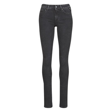 Kleidung Damen Slim Fit Jeans Replay LUZ / HYPERFLEX / RE-USED Schwarz