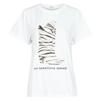 Kleidung Damen T-Shirts Replay W3509D Weiss