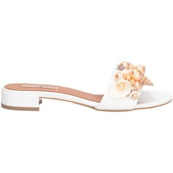 Schuhe Damen Pantoffel Tsakiris Mallas 605 CELIA 6-1 Sandalen Frau weiß weiß