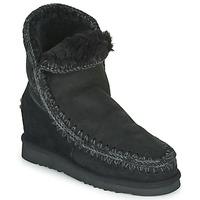 Schuhe Damen Boots Mou ESKIMO INNER WEDGE SHORT Schwarz