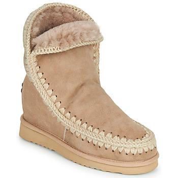 Schuhe Damen Boots Mou ESKIMO INNER WEDGE SHORT Beige