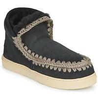 Schuhe Damen Boots Mou ESKIMO SNEAKER Schwarz