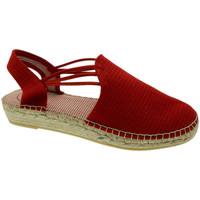Schuhe Damen Leinen-Pantoletten mit gefloch Toni Pons TOPNOACRverm rosso