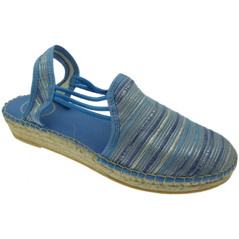 Schuhe Damen Leinen-Pantoletten mit gefloch Toni Pons TOPNOASNblau blu