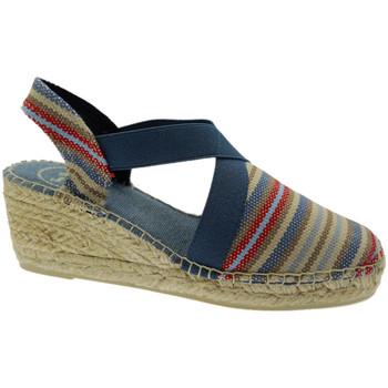 Schuhe Damen Leinen-Pantoletten mit gefloch Toni Pons TOPTARBEStex blu