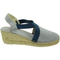 Schuhe Damen Leinen-Pantoletten mit gefloch Toni Pons TOPTERRAMTtexa blu