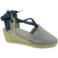 Schuhe Damen Leinen-Pantoletten mit gefloch Toni Pons TOPVEIRAMTtex blu