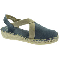 Schuhe Damen Leinen-Pantoletten mit gefloch Toni Pons TOPVERDIVmar blu