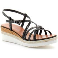 Schuhe Damen Sandalen / Sandaletten Porronet fi2596 Noir