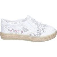 Schuhe Mädchen Slip on Asso slip on textil weiß