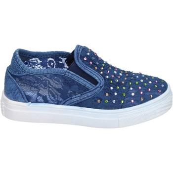 Schuhe Mädchen Slip on Asso slip on textil blau