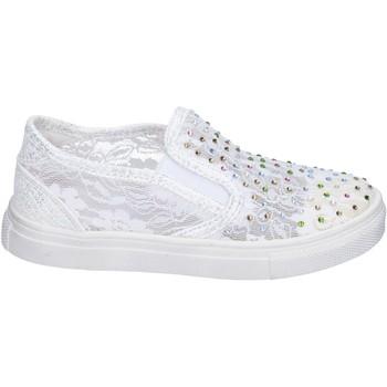 Schuhe Mädchen Slip on Asso BM449 weiß