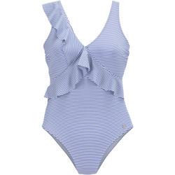 Kleidung Damen Badeanzug Lascana marineblau 1-teiliger Mehrstellungs-Badeanzug mit Blau Marine